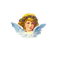 Standing Blue Angel Card