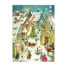 Sellmer Small Nativity Street Advent Calendar (Set of 2)