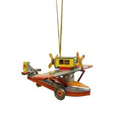 Tin Seaplane Ornament