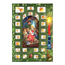 Small Religious  Advent Calendar with Bible Verses