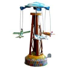Collectible Decorative Tin Toy Merry-Go-Round
