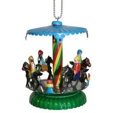 Collectible Horse Carousel Tin Ornament