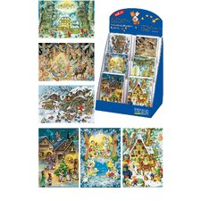 Korsch Assorted Advent Cards with Box (Set of 60)
