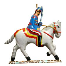 Tin Solider and Horse Ornament (Set of 2)