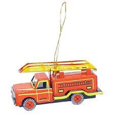 Tin Fire Truck Ornament
