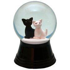 Perzy Small 2 Cats Snow Globe