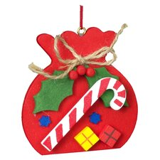 Christian Ulbricht Red Sack with Candy Cane Ornament