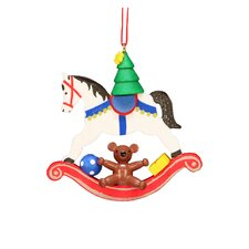 Christian Ulbricht Rocking Horse with Toys Ornament