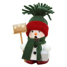 Christian Ulbricht Snowman with Hat Scarf Incense Burner