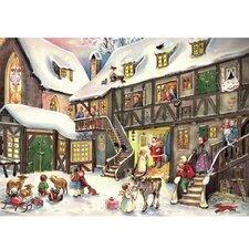 Sellmer Santa in Village Advent Calendar