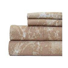 400 Thread Count 100% Cotton Marble Print Sheet Set