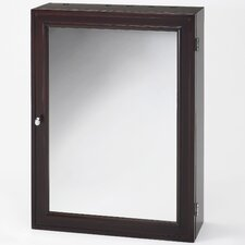 "RCB Style and Go Hair Care 20.86"" x 27.16"" Mirrored Wall Mounted Cabinet"