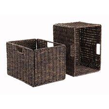 Granville Foldable Corn Husk Basket (Set of 2)
