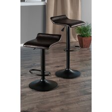 Paris Adjustable Height Swivel Bar Stool with Cushion (Set of 2)