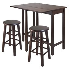 Lynnwood 3 Piece Counter Height Pub Table Set