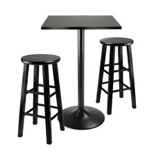 Obsidian 3 Piece Counter Height Pub Set