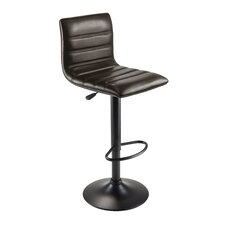 Holly Adjustable Height Swivel Bar Stool with Cushion