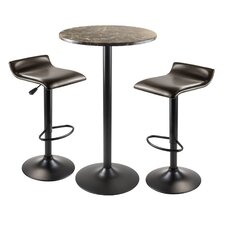 Cora 3 Piece Pub Table Set