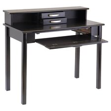 Liso Computer Desk with Hutch and Keyboard Tray
