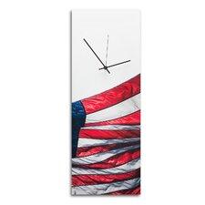 'US Flag' Patriotic Home Décor Wall Clock