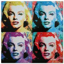 'Marilyn Monroe' Colorful Urban Pop Art Wall Clock