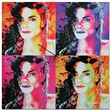 'Michael Jackson' Colorful Urban Pop Art Wall Clock