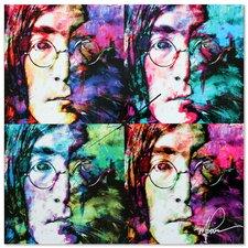 'John Lennon Beatles' Colorful Urban Pop Art Wall Clock