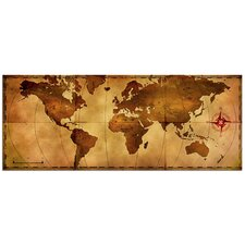 'Old World Map' Graphic Art Plaque