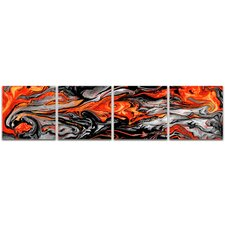 Abstracts Lava Red  by Ben Judd Graphic Art
