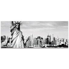 New York Black and White City Skyline on Metal or Acrylic by Modern Crowd Urban Cityscape Enhanced Photo Print