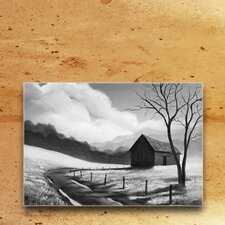 'Prairie Life Black and White' by Elaine Reiter High-Gloss Graphic Art on Acrylic Plaque