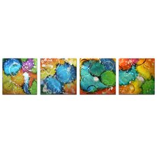 Abstract Sunny Days by Nicholas Yust 4 Piece Graphic Art Set