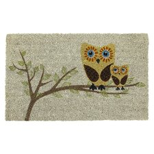 Sweet Home Give a Hoot Doormat