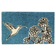 Flower and Hummingbird Doormat