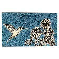 Flower and Hummingbird Doormat