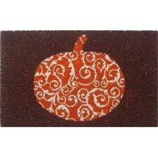 Sweet Home Scrolled Pumpkin Doormat