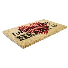 Heart Handwoven Doormat