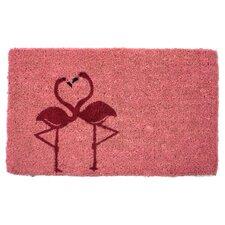 Handmade Flamingos Doormat