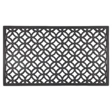 Recycled Rubber Circle Chains Doormat