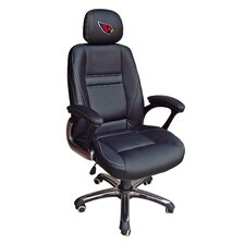 "NFL 39"" H Leather Office Chair with Single Lever Seat Height Control"