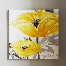 Poppy I Painting Print on Wrapped Canvas