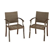 Urban Outdoor Dining Arm Chair (Set of 2)