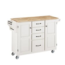 Create-a-Cart Kitchen Island with Butcher Block Top