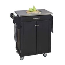 Cuisine Kitchen Cart with Stainless Steel Top