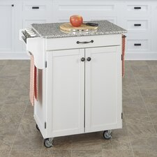 Cuisine Kitchen Cart with Granite Top