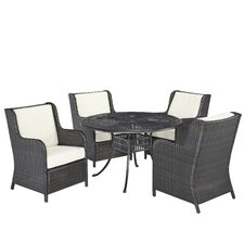 Largo 5 Piece Dining Set with Cushions