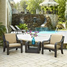 Lanai Breeze 3 Piece Seating Group with Cushions (Set of 3)