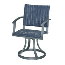 Stone Veneer Swivel Dining Chair