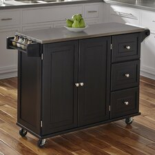 Liberty Kitchen Cart with Stainless Steel Top