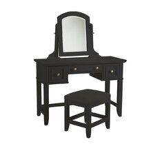 Bedford Three Drawer Vanity Set with Mirror